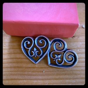 VintageRARE FrenchScrollHeart James Avery Earrings